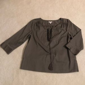 Brown tunic with embellishment & tassels on front